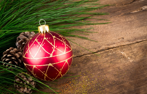 Picture ball, New Year, Christmas, wood, merry christmas, decoration, xmas, fir tree