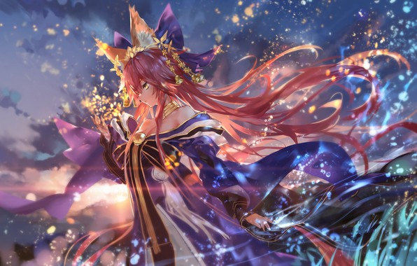 Picture girl, anime, art, character, fate/grand order