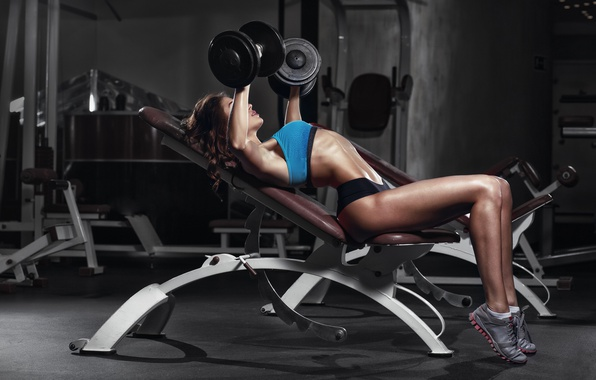 Picture female, workout, fitness, gym