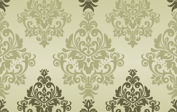 Picture green, vector, texture, ornament, background, pattern, classic, seamless, damask