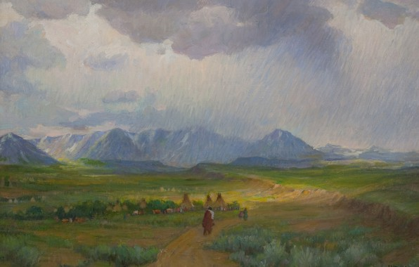 Picture overcast, Joseph Henry Sharp, Lure of the West