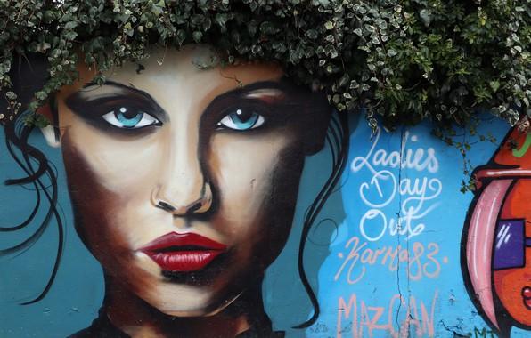 Picture wall, street, graffiti
