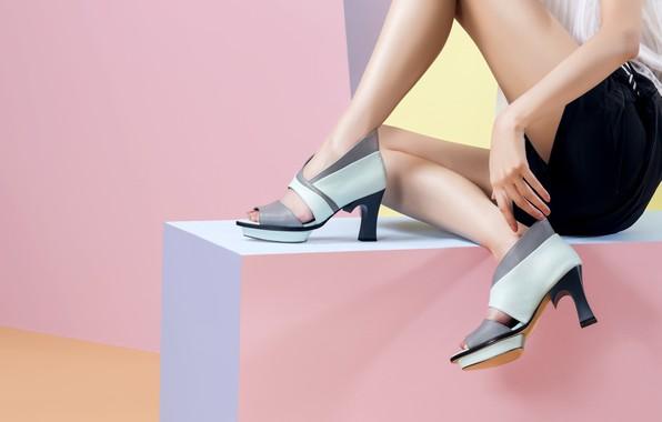 Picture girl, background, heels, legs