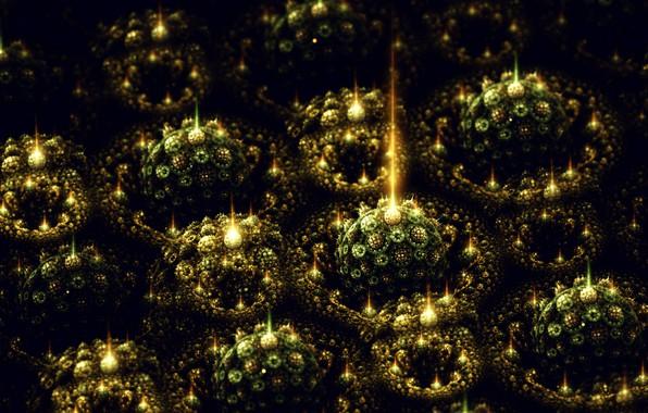 Picture Souvenirs, Fractal art Sylvia Cordedda, green balls