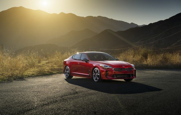 Picture The sun, Mountains, Dawn, Speed, Stinger, 2017