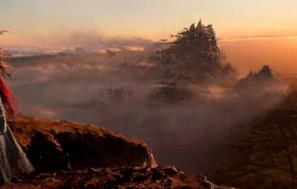 Picture fiction, the film, desert, London, widescreen, concept art, dystopia, Mortal Engines