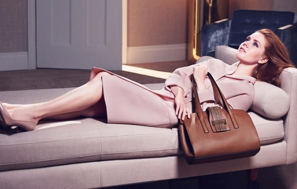 Picture girl, bag, coat, photoshoot, Amy Adams