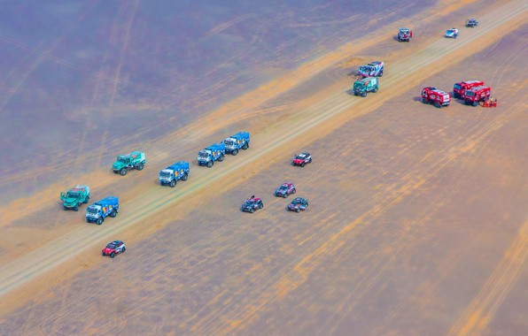 Picture The sky, Sand, Nature, Mini, Sport, Speed, Truck, Race, Master, Beauty, Mini Cooper, Russia, Toyota, …