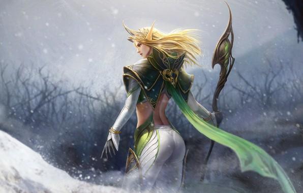 Picture elf, art, fantasy, TaeKwon Kim(A-rang), Elf Queen