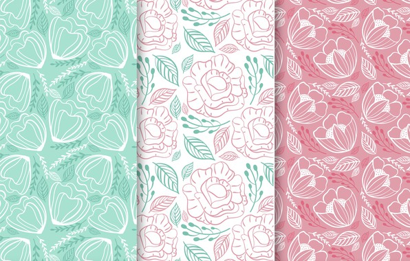 Picture flowers, background, Wallpaper, colorful, flower, patterns