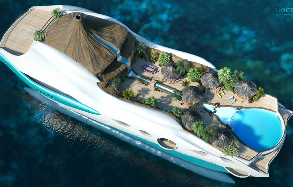 Picture the project, superyacht, Futuristic, the yacht-island, gesign, Yacht island, tip 2