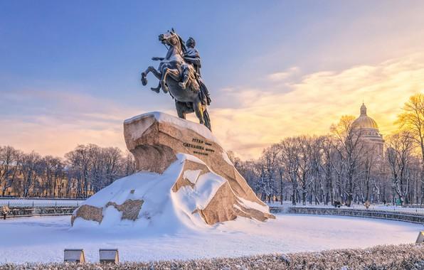 Picture Russia, Saint Petersburg, senate square, Bronze horseman monument