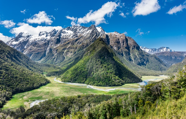 Picture mountains, New Zealand, New Zealand, Humboldt Mountains