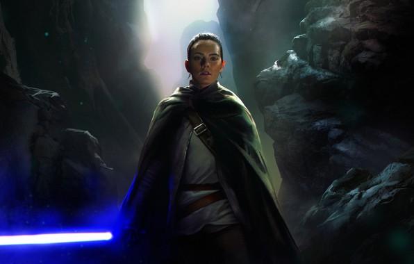 Wallpaper Art Jedi Rey Star Wars The Last Jedi Images For Desktop Section Filmy Download