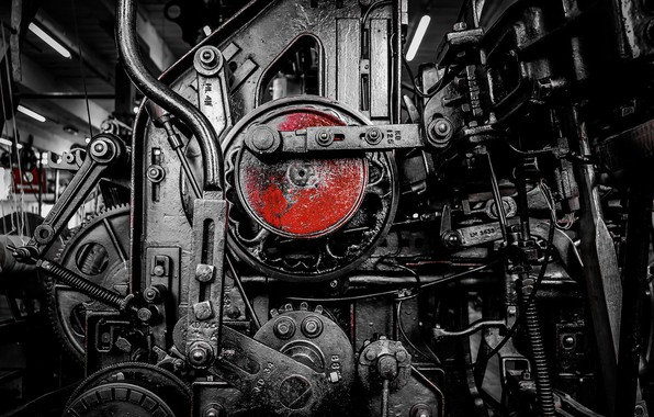 Picture background, engine, mechanism