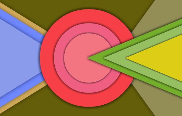 Picture Wallpaper, round, triangle