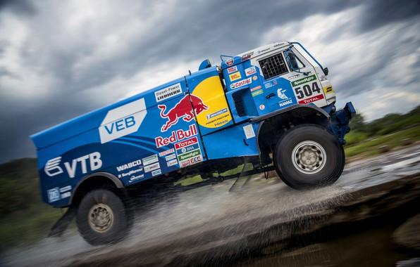 Photo wallpaper Sport, Kamaz, Russia, Best, RedBull, Rally, Race, KAMAZ, Rally, Master, 504, Contest, Speed, Truck, Master, ...