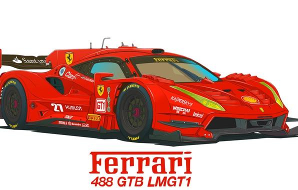 Picture Figure, Ferrari, 488 GTB, LMGT1