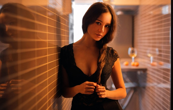 Picture neckline, braid, the beauty, Alena
