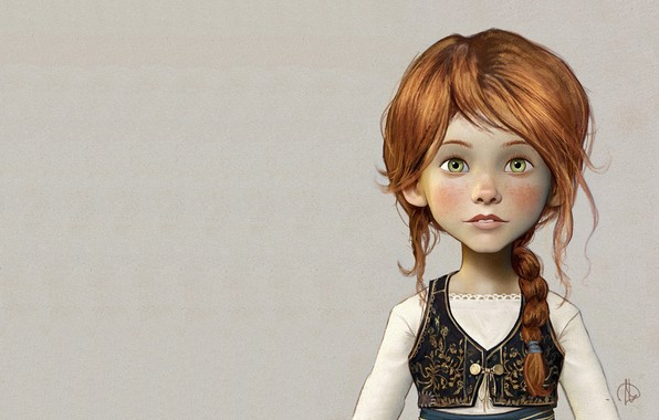 Picture art, girl, illustration, porteret, Character design for the CG ANIMATION Ballerina, Jean-Baptiste Monge, Felicie