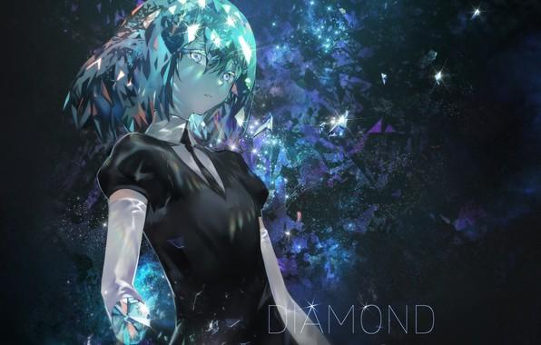 Picture girl, diamond, Azomo