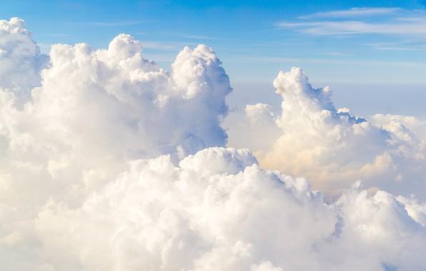 Picture nature, The sky, natural phenomenon, white clouds
