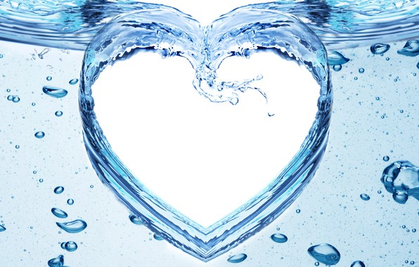 Picture water, squirt, pattern, heart
