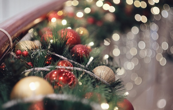 Picture holiday, balls, Christmas decorations, Christmas decorations