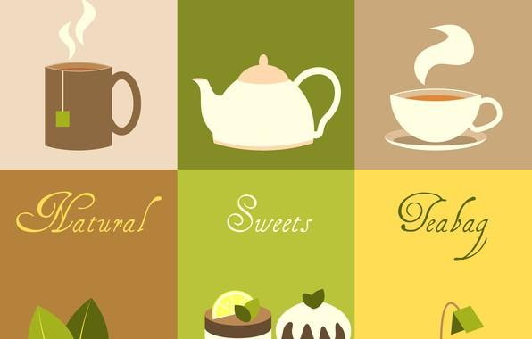 Picture background, tea, texture, dessert