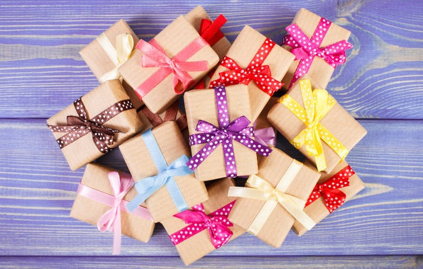 Picture tape, gifts, bow, wood, box, gifts