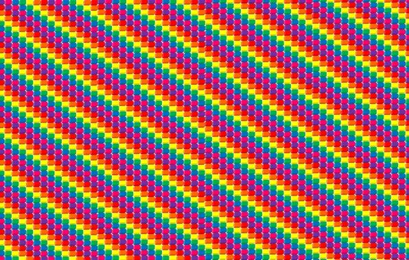Picture cubes, strip, art, colorful
