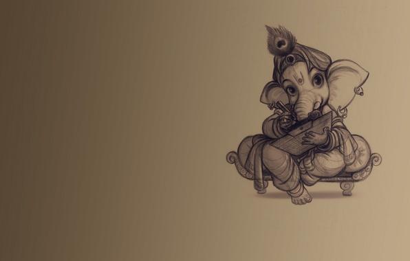 Picture background, elephant, teaching, Ganesh