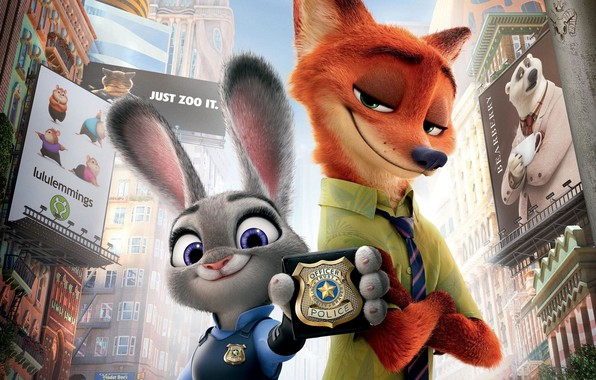 Picture rabbit, Fox, icon, Zootopia, Zeropolis