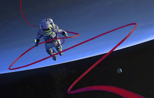Picture space, fantasy, stars, cosmos, planet, digital art, artwork, fantasy art, pearls, space suit, Astronaut, space …