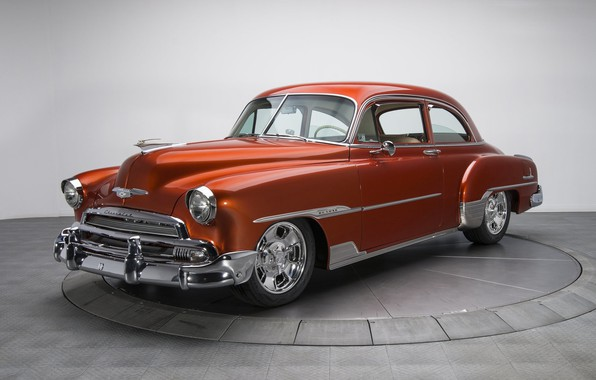 Picture retro, coupe, Chevrolet, Deluxe, 1951, Styleline