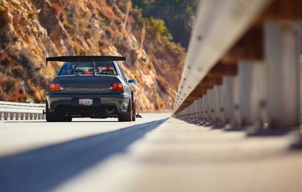 Picture bridge, tuning, Mitsubishi, Lancer, Evolution, rear view, Evo, IX MR