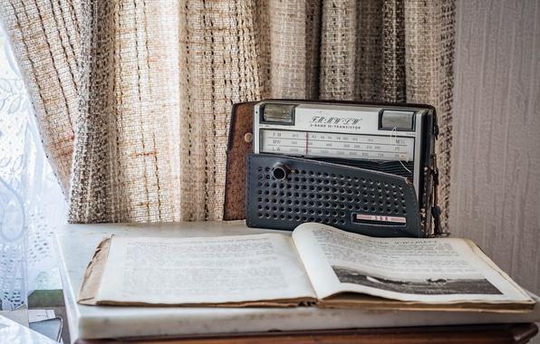 Picture radio, book, receiver