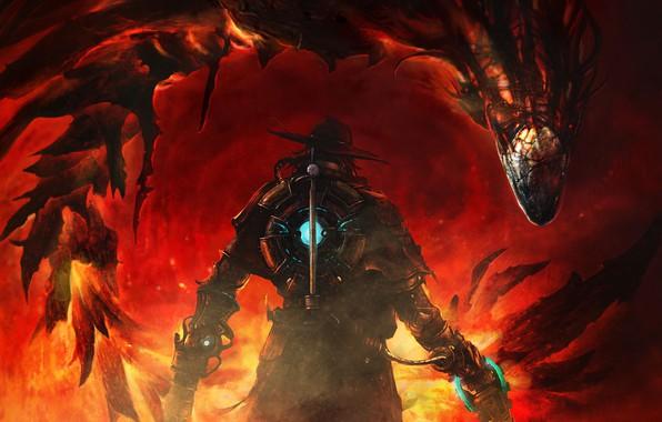 Picture red, game, dragon, hunter, The Incredible Adventures of Van Helsing III