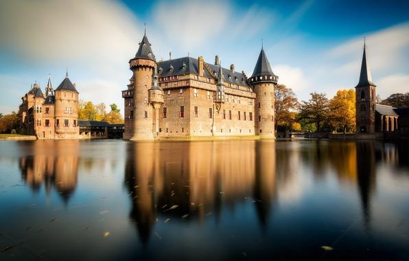Picture castle, Netherlands, Holland, Utrecht, De Haar Castle