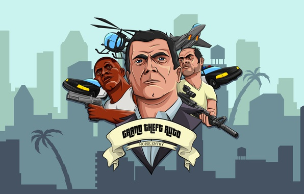 Picture the game, GTA 5, Trinity