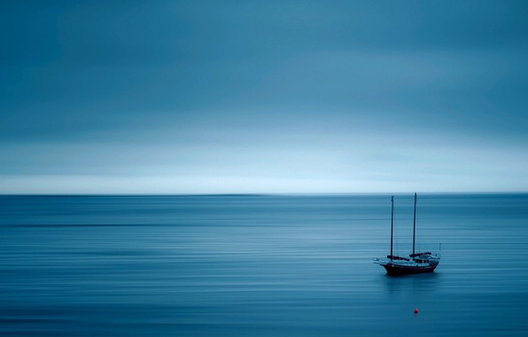 Picture the ocean, yacht, calm