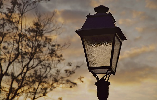 Picture sunset, street, Paris, the evening, lantern, France