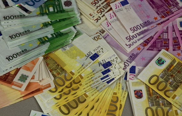 Picture money, Euro, currency, bills, euro