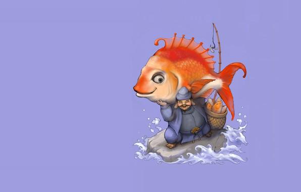 Picture fish, Japan, art, God, mythology, Ebisu, Ebisu