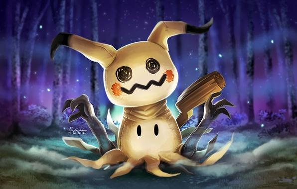 Wallpaper Mimikyu, rabbit, Pokemon, halloween, Pokémon Sun and ...