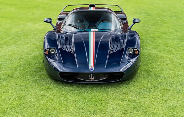 Picture hypercar, Maserati MC12, Blue carbon