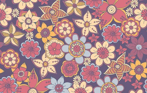 Picture pattern, texture, flowers, ornament, design, pattern, floral