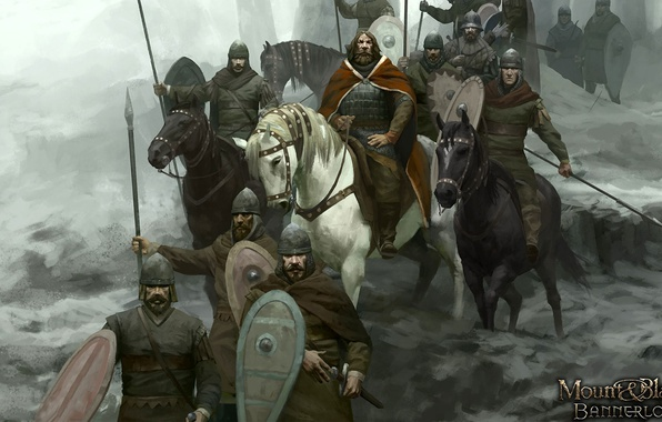Picture sword, armor, weapon, man, army, ken, Mount & Blade, blade, horse, shield, warrior, king, pearls, …