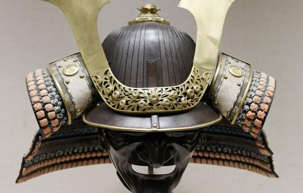 Picture Japan, samurai, mask, warrior, pearls, honor, Edo period, japonese, shogunate, kabuto, Nippon, Nihon