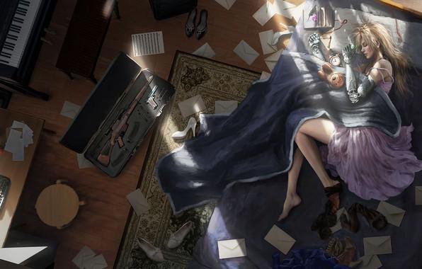 Picture girl, art, lies, Violet Evergarden